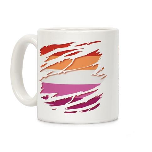 Ripped Shirt: Lesbian Pride Coffee Mug