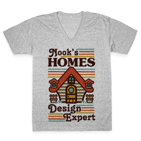 Nook's Homes Design Expert V-Neck Tee Shirt