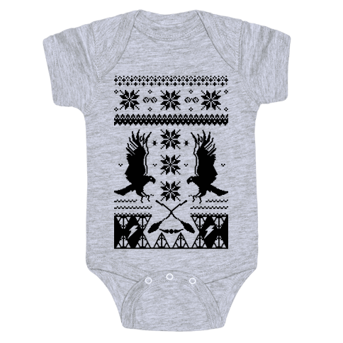 Hogwarts Ugly Christmas Sweater: Ravenclaw Baby Onesy
