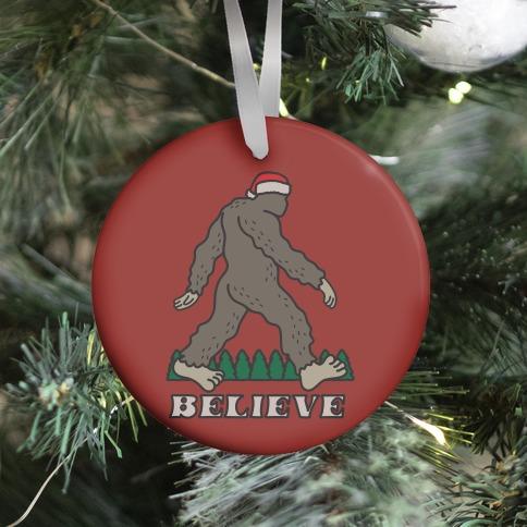 Santa Sasquatch Ornament