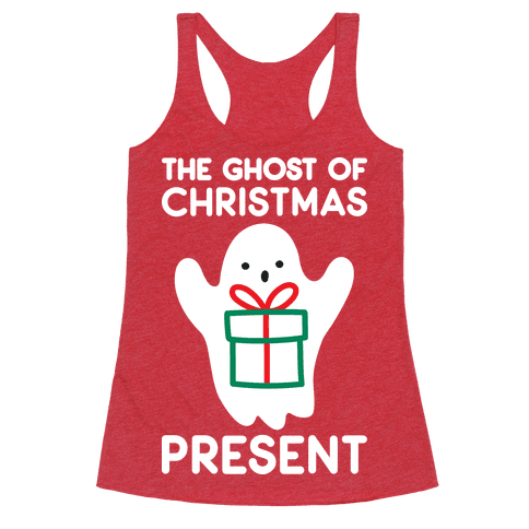 The Ghost of Christmas Present Racerback Tank Top