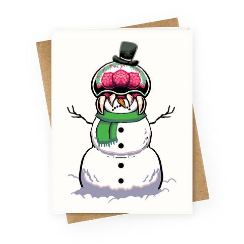 Metroid Snowman Greeting Card