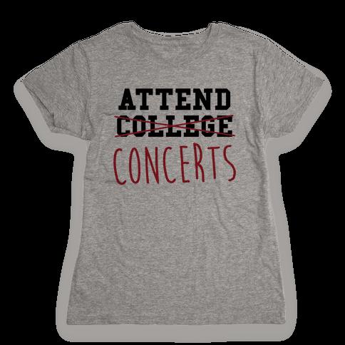Concerts Womens T-Shirt
