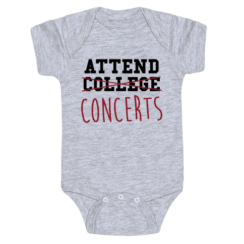 Concerts Baby Onesy