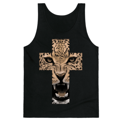 Leopard Cross Tank Top