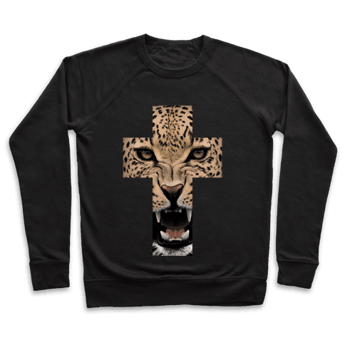 Leopard Cross Pullover