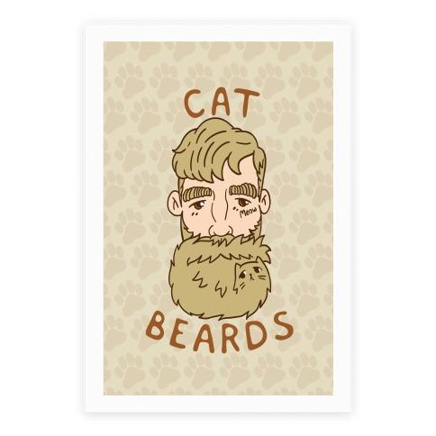 Blonde Cat Beards Poster
