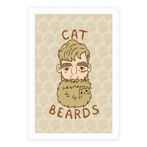 Blonde Cat Beards Poster