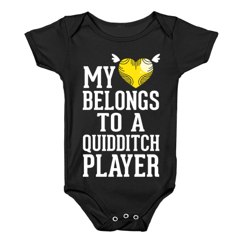 My Heart Belongs To A Quidditch Player Baby Onesy