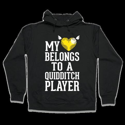 My Heart Belongs To A Quidditch Player Hooded Sweatshirt