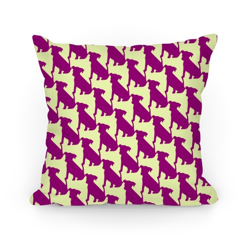 Dogtooth Pattern Pillow