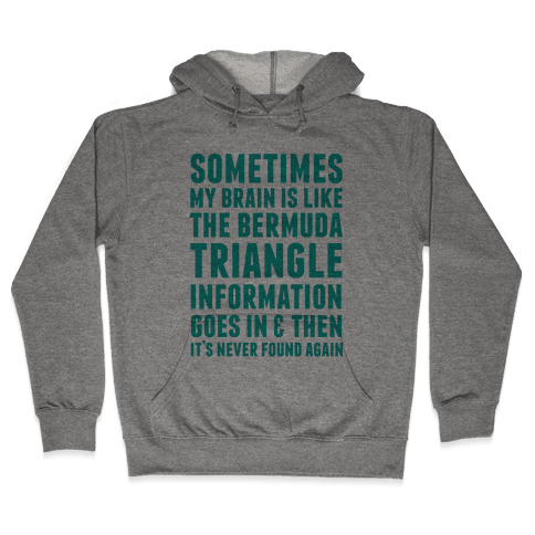 Sometimes My Brain Is Like The Bermuda Triangle Hooded Sweatshirt