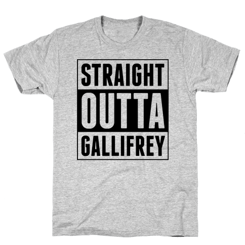 Straight Outta Gallifrey Mens T-Shirt