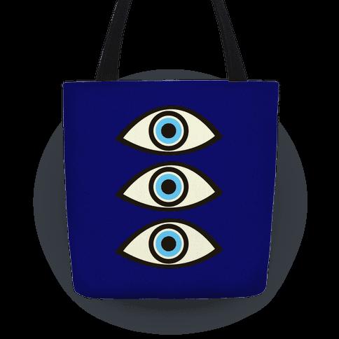 Evil Eye Tote Bag | LookHUMAN