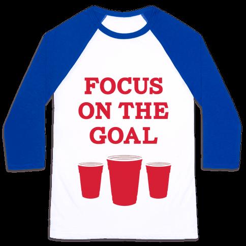 Focus on the Goal Baseball Tee