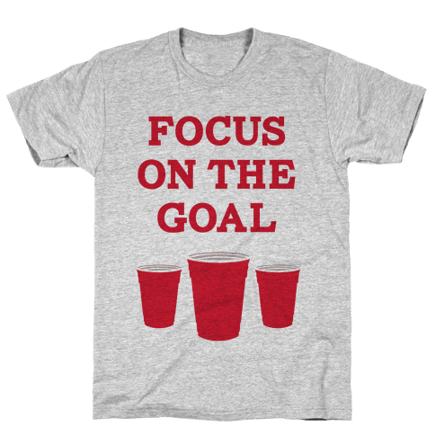 Focus on the Goal Mens T-Shirt