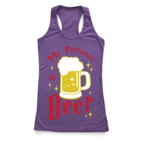 My Patronus Is Beer Racerback Tank Top