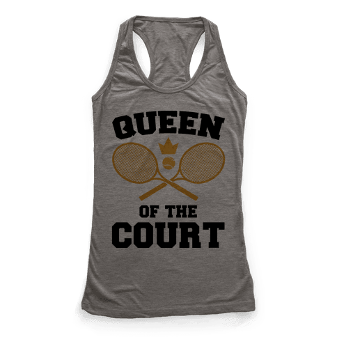 Queen Of The Court Racerback Tank Top
