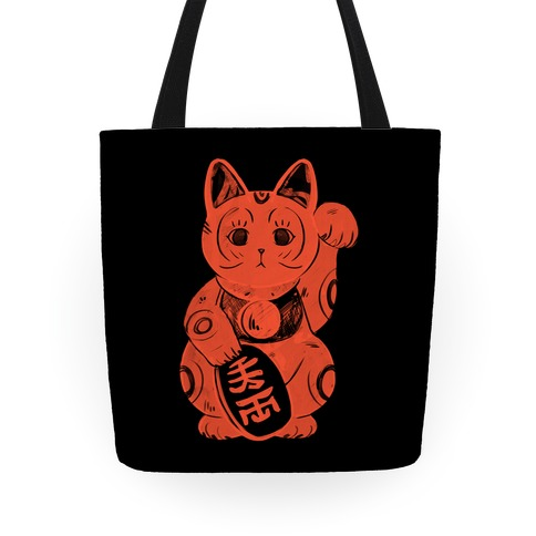 Japanese Lucky Cat Tote