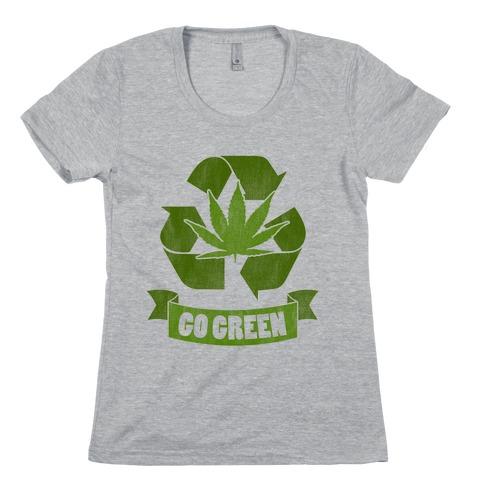 Go Green Womens T-Shirt