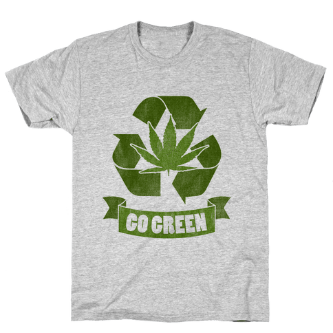 Go Green Mens T-Shirt