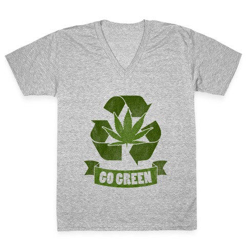 Go Green V-Neck Tee Shirt