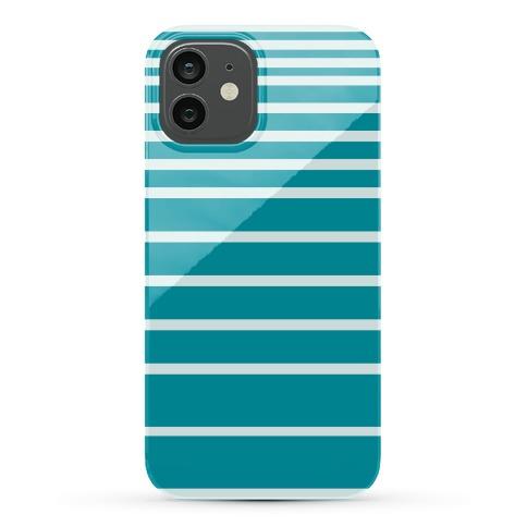 Teal Stripe Case Phone Case
