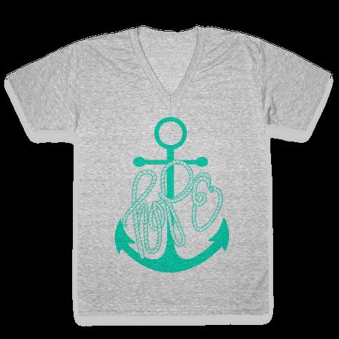 Hope (Green) V-Neck Tee Shirt