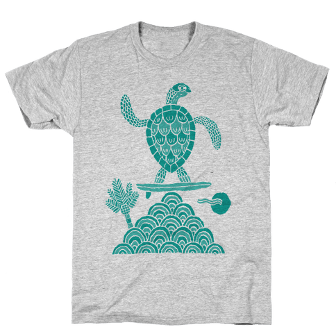 Surf Turtle Mens T-Shirt