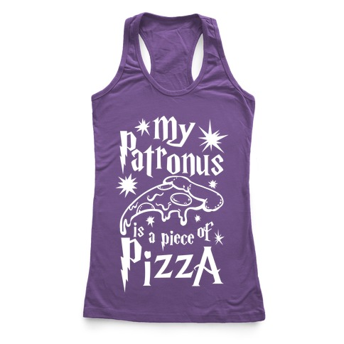My Patronus is a Piece of Pizza Racerback Tank Top