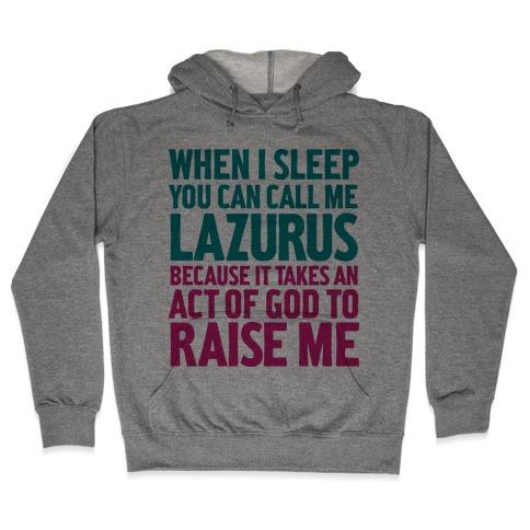 Lazarus Of Bethany Hooded Sweatshirts | LookHUMAN