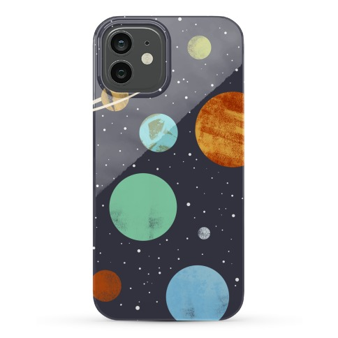 Planets Illustration Phone Case