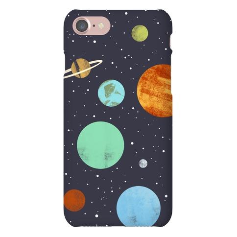 Planets Illustration Phone Case