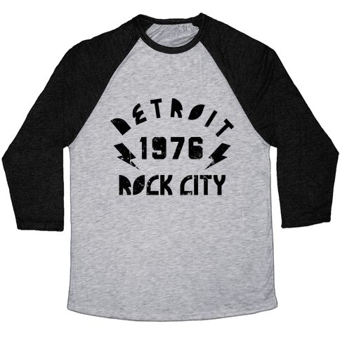 Detroit Rock City 1976 Baseball Tee