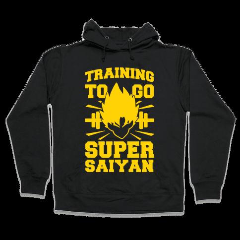 Training to Go Super Saiyan Hooded Sweatshirt