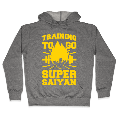 Training to Go Super Saiyan Hooded Sweatshirt