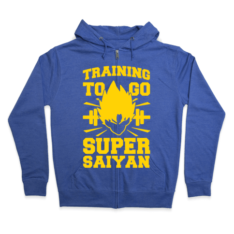 Training to Go Super Saiyan Zip Hoodie