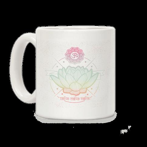 Om Shanti Shanti Shanti Coffee Mug