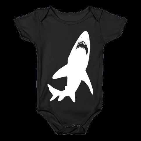 Stalking Shark Baby Onesy