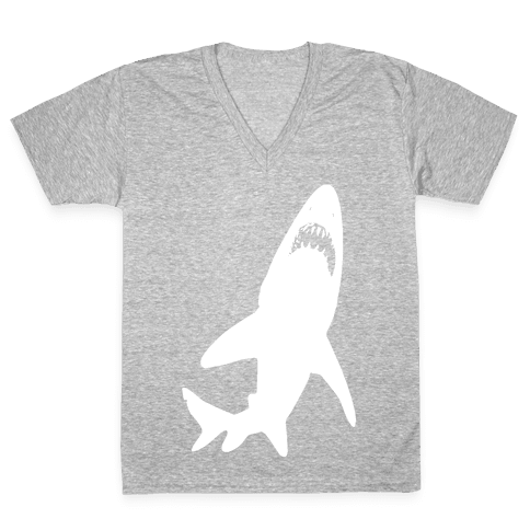 Stalking Shark V-Neck Tee Shirt