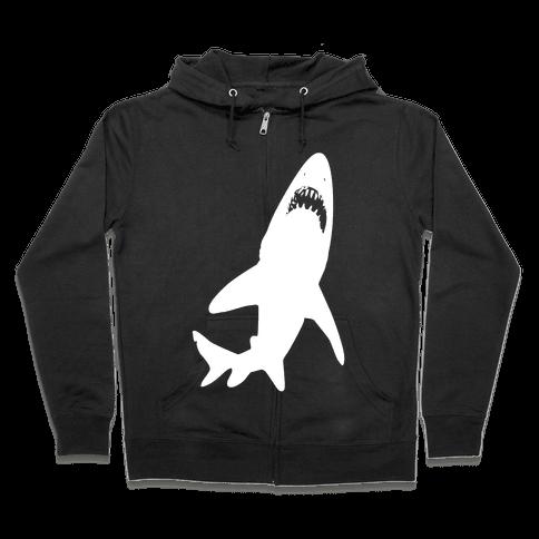 Stalking Shark Zip Hoodie