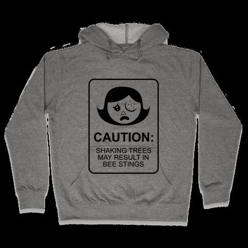 Caution: Bees Hooded Sweatshirt