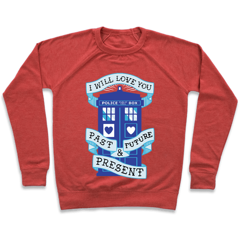 Doctor Who Love Past Future Present Pullover