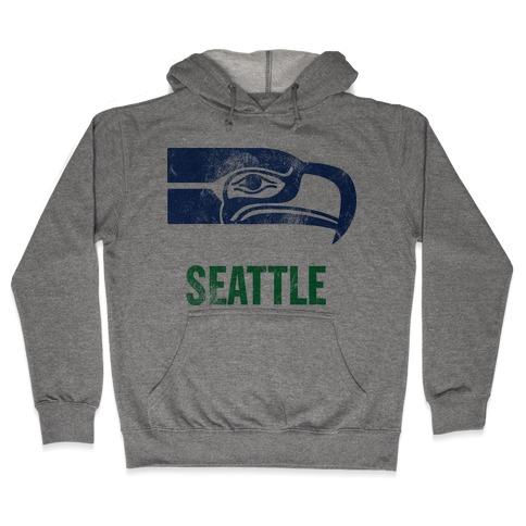 Seattle (Vintage) Hooded Sweatshirt