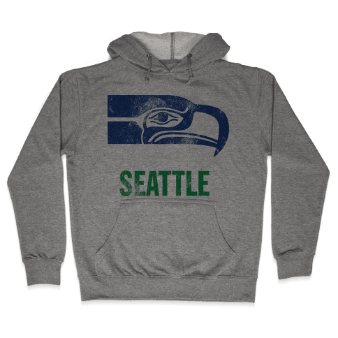 Seattle (Vintage) Hooded Sweatshirt
