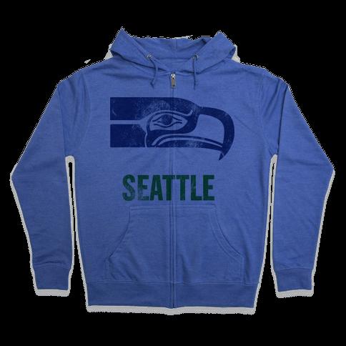 Seattle (Vintage) Zip Hoodie