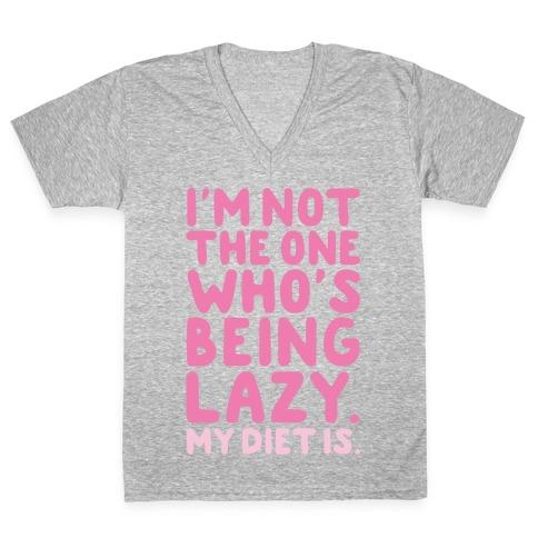 Lazy Diet V-Neck Tee Shirt