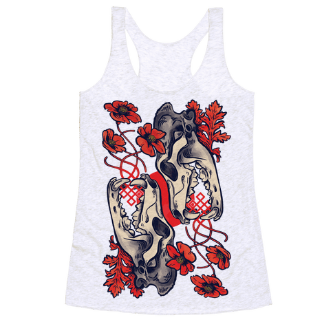 Sleep And The Coyote Racerback Tank Top