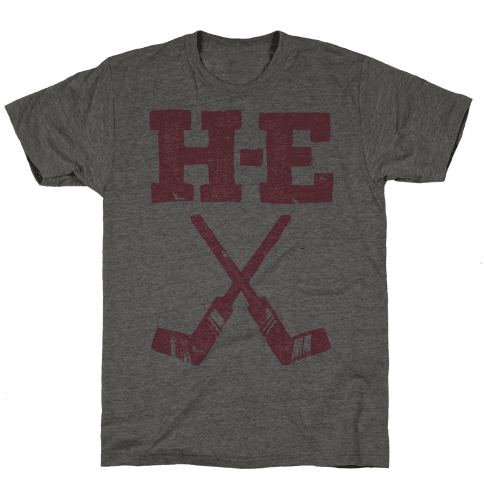 H E Double Hockey Sticks (Hell) Mens T-Shirt