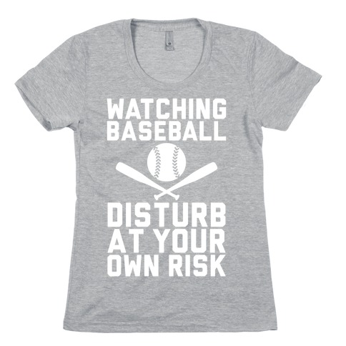 Watching Baseball Womens T-Shirt